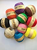 11 Colors of Hemp Twine Balls size 1mm, 143yd 130m 430ft each ball DIY