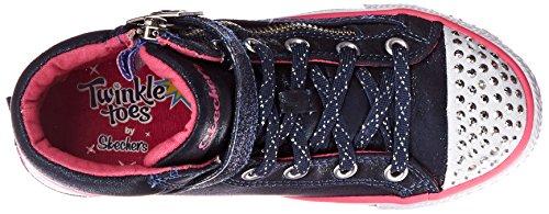 Skechers ShufflesHeart & Sole - Zapatillas de material sintético para niña Azul (Bleu / Dknv)