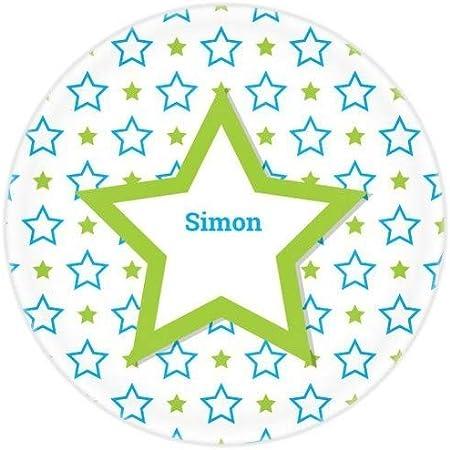 Con este hermoso plato estrella, tu hijo será la estrella de la mesa. Personalizada a su nombre, lo
