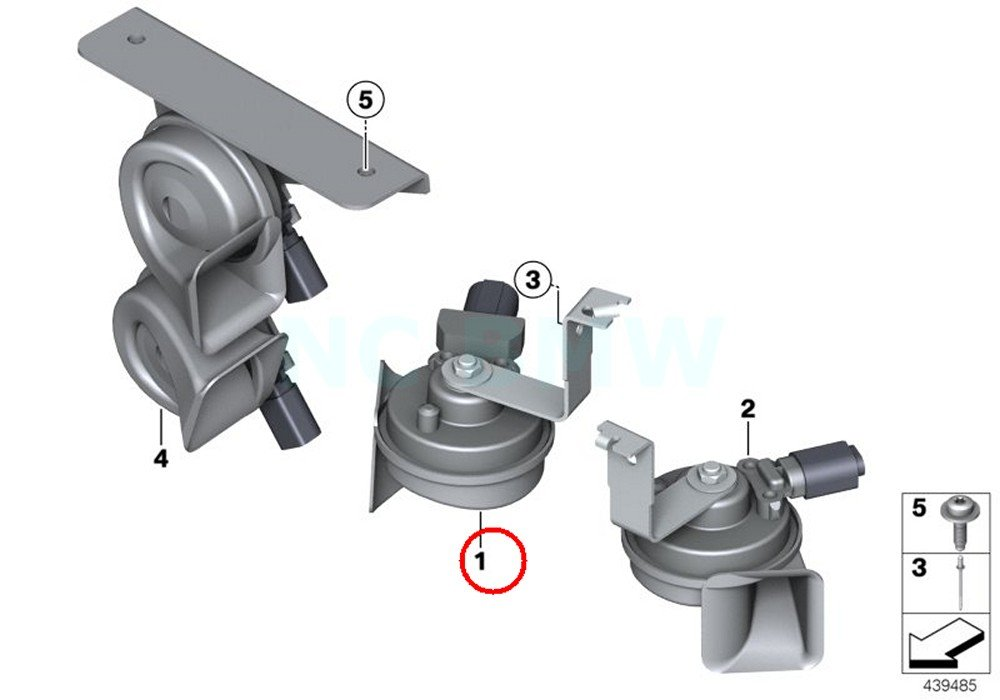 BMW Genuine Electronic Low-Frequency Air Horn