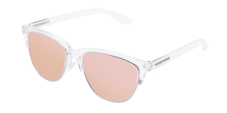 Hawkers Air Rose Gold Classic, Gafas de Sol Unisex, Transparente/Rosa