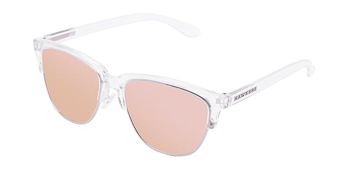 Hawkers CTR19, Occhiali da Sole Unisex-Adulto, Bianco (Transparente/Rose Gold), 60