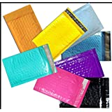 50 -4x8 Bubble Mailers, *All Color Option, Padded Mailing/shipping Envelopes