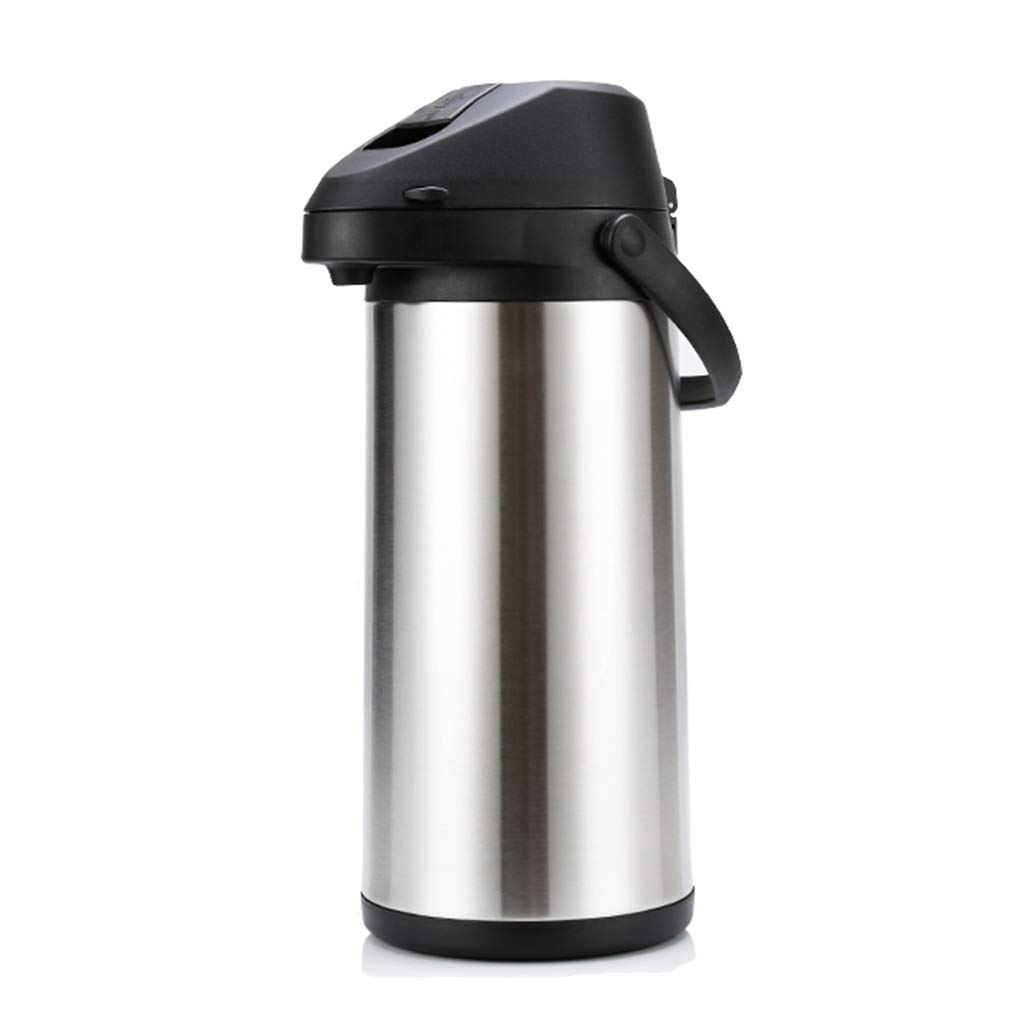 LLCOFFGA Coffee Carafe Thermos,24 Hour Heat Retention,Large Capacity,Lever Action,Stainless Steel,5L