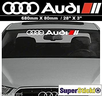 Audi Frontscheibe Aufkleber 70 Cm Ringe Fahne Autoaufkleber Tunimg