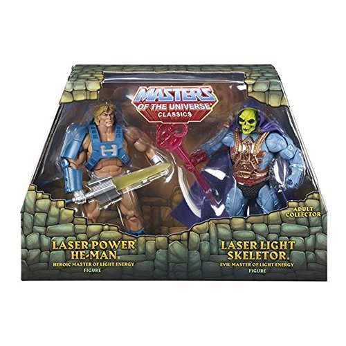 Masters Of the Universe Classics 2015, Laser Power He-man and Skeletor 2pack Adult collector ()