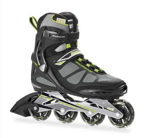 Rollerblade Men's Spark 80ALU Skate, Black/Green, 12