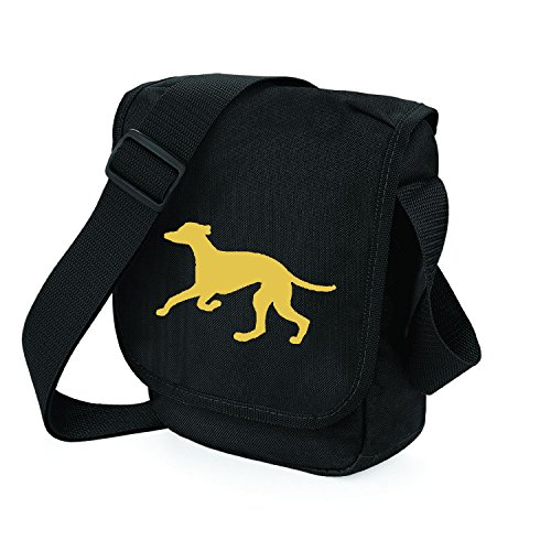 Bag Gift Bag Running Hound Dog Dog Silhouette Reporter Greyhound Shoulder Choice Bag Bag Black Walkers Greyhound for Fawn Trotting Greyhound of Colours 6wBIqfnF6