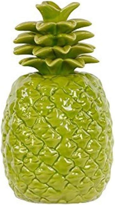 Urban Trends Ceramic Pineapple, Green