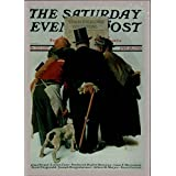 1995 Norman Rockwell Two The Saturday Evening Post #30 Stock Exchange Quotation - NM-MT