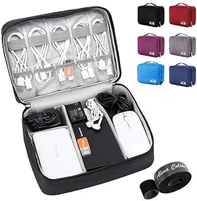 AUS Travel Storage Bag Electronics Charger Cable CASE Waterproof Organizer BLACK