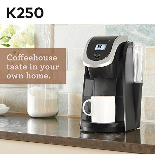Keurig K250 Coffee Maker, Single Serve K-Cup Pod Coffee Brewer, With Strength Control, Black