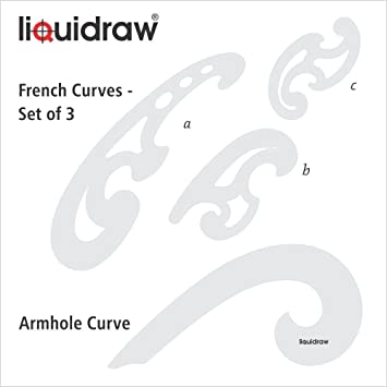 Liquidraw French Curve Set of 4 Rulers Clear Technical Drawing ...