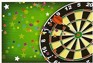 Dart Board ~ Edible Image Cake Topper by A Birthday Place