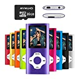 MYMAHDI MP3/MP4 Music Player with 16 GB Micro SD Card(Expandable Up to 128GB),Supporting Photo Viewer,Voice Recorder,FM Radio,E-Book Earphone Provided Color Purple