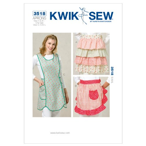 - Kwik Sew K3518 Aprons Sewing Pattern, Size View A and B