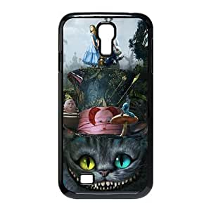 Alice in Wonderland We're all mad here Cheshire Cat Together Unique Durable Hard Plastic Case Cover for SamSung Galaxy S4 I9500 Custom Design Fashion DIY