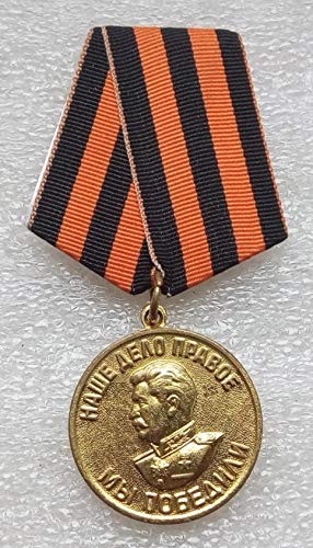 #1 We Won For the Victory over Germany WW II Original USSR Soviet Union Russian military Communist Bolshevik Medal St. George Ribbon