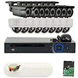 GW Security VD16CHC12 16 CH HDCVI DVR 16 x 1/2.8 Inches,  2.0 MP HDCVI Security Camera, 2.8-12 mm Manual Varifocal Lens (Color)