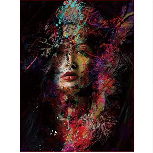 CZYYOU DIY Digital Malen Nach Zahlen Gemalt Frau Färbung Wandkunst Bild Geschenk - Ohne Rahmen - 40x50cm B07PML5WPB | Flagship-Store