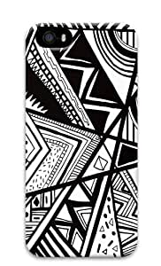 Black And White Doodle Custom Design iPhone 5S/5 Protective Case Cover - Polycarbonate