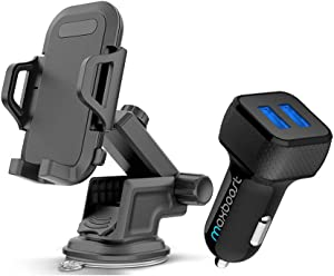 Maxboost 24W Car Charger and DuraHold Car Phone Mount for Smartphone