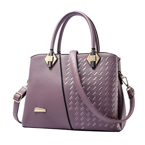 YouPue Frauen Handtasche Elegant Henkeltaschen Shopper Tasche Umhängetasche Crossbody Tasche Violett