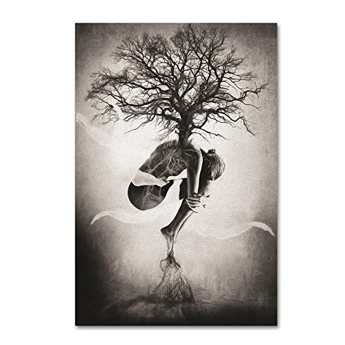 Tree of Life by Erik Brede, 12×19-Inch Canvas Wall Art