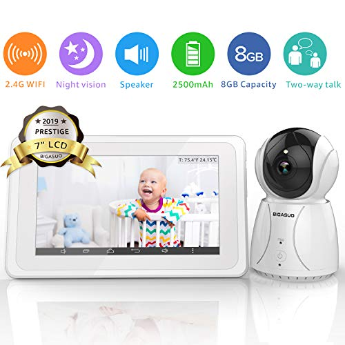(BIGASUO Upgrade Baby Monitor, Video Baby Monitor 7