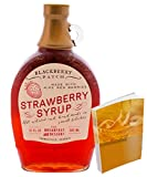 Red Ripe Strawberry Syrup 12floz from Blackberry Patch All Natural Handmade   pancakes or waffles in the morning w/ Free 67-page Cocktail Recipe EBook (12fl oz,Red Ripe Strawberry)