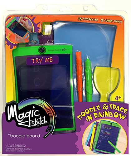 Magic Sketcher (Magic Sketch | LCD Writing Board, Drawing, Doodle, Learning Tablet | Includes 18 Stencils, 4 Styluses | Kids, Office, School, House, Car Rides and More)