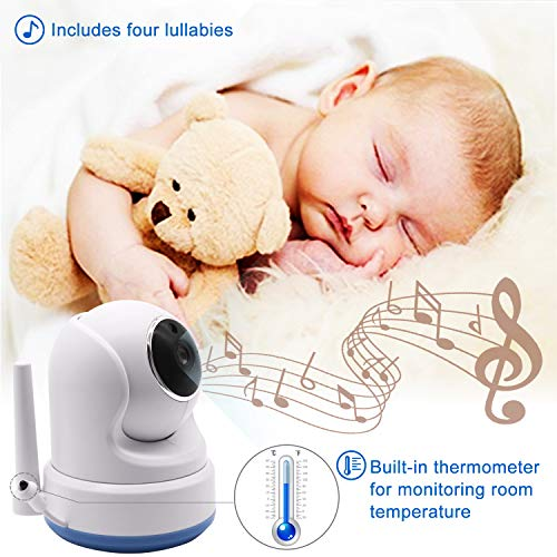 """51F2qmAPlSL CasaCam BM200 Video Baby Monitor with 5"""" Touchscreen and HD Pan & Tilt Camera, Two Way Audio, Lullabies, Nightlight, Automatic Night Vision and Temperature Monitoring Capability    Product Description"""