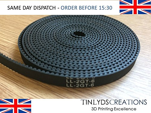 GT2 6mm Timing Belt for cnc machines and 3d printers prices per metre tinlydscreations