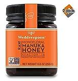 Wedderspoon Raw Premium Manuka Honey KFactor 16, 8.8 Oz, Unpasteurized, Genuine New Zealand Honey, Multi-Functional, Non-GMO Superfood, 2 Pack