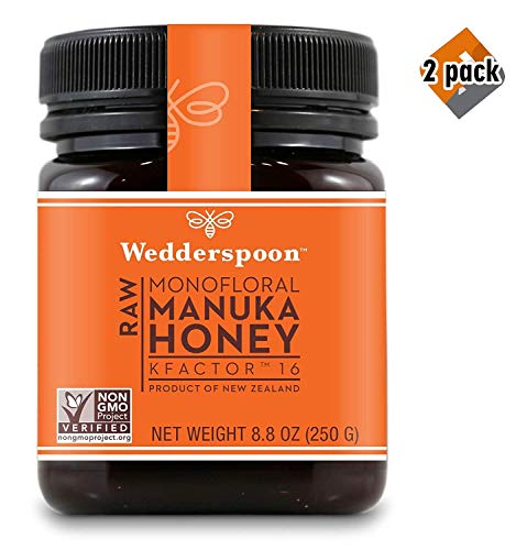 Wedderspoon Raw Premium Manuka Honey KFactor 16, 8.8 Oz, Unpasteurized, Genuine New Zealand Honey, Multi-Functional, Non-GMO Superfood, 2 Pack by Wedderspoon (Image #4)