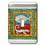 Danita Delimont - Art - Mosaic painting, Jakarta, Indonesia - Light Switch Covers - single toggle switch (lsp_225787_1)