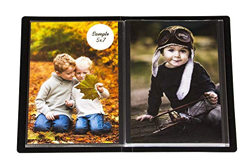 2PO Compact Portfolio Photo Album Holds 48 Pictures - 5x7 Inch/Space Saver Album Protective Poly Case
