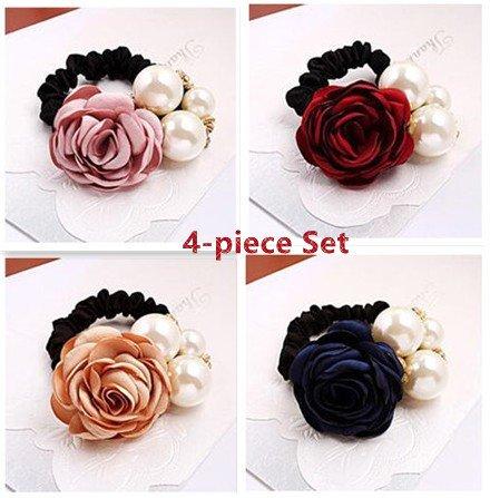 Buy Blingys Pearl Flower Silk Bandsbowknot Hair Bandshair Flowers