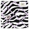 Purple Funky Zebra Fabric Memorymemo Photo Bulletin Board by Sweet Jojo Designs