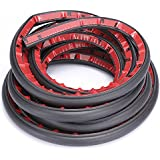 """Fafada®D-Shape Weather Stripping Seals the Door Seal Car Noise Hollow Black 4M/157"""""""