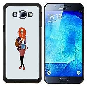 YiPhone /// Prima de resorte delgada de la cubierta del caso de Shell Armor - la educación feminista inconformista inteligente pelirroja - Samsung Galaxy A8 A8000