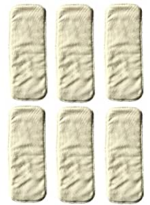 LOVE MY Baby Cloth Diaper 6pcs 4layers Super Water Absorbent Antibacterial Bamboo Inserts