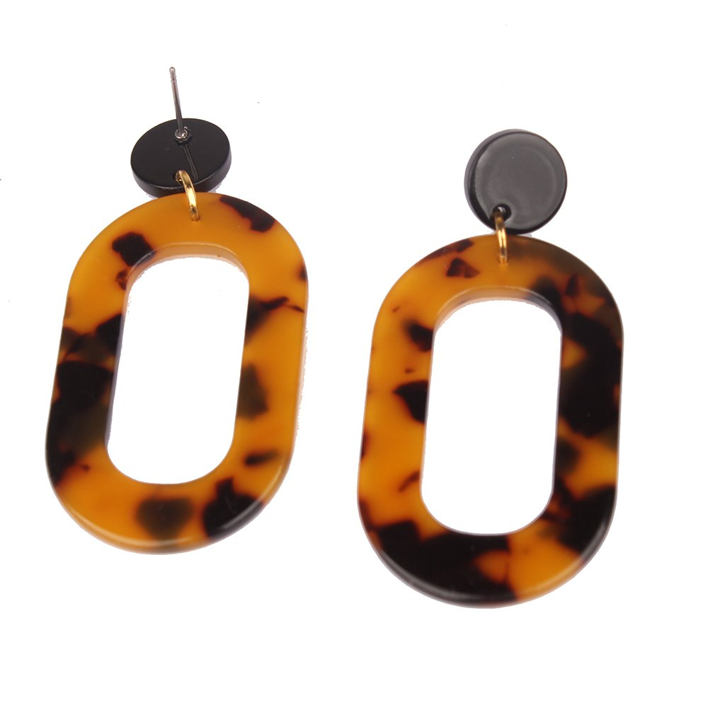 MIZUKAGAMI Tortoise LYKC Earrings 2'' x 1.06'' for Women Acrylic Acetate Edition Extrordinary Pattern by mizukagami (Image #4)