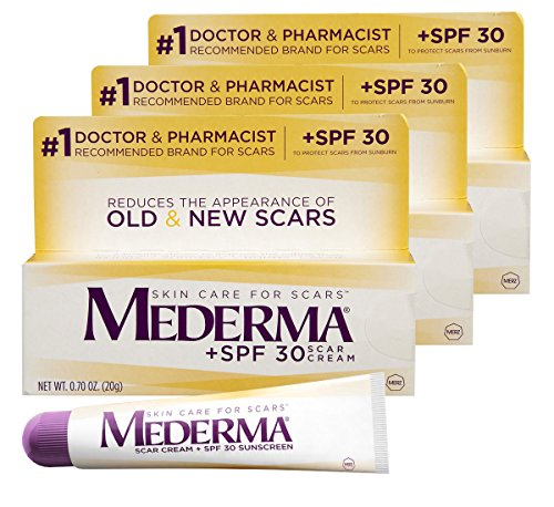 Mederma Scar Cream + SPF 30 Sunscreen, 0.7 Ounce, Pack of 3 by Mederma