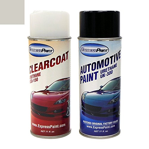 ExpressPaint Aerosol Cadillac CTS Automotive Touch-up Paint - Satin Nickel Effect (Wheel) 733J - Color+Clearcoat Package