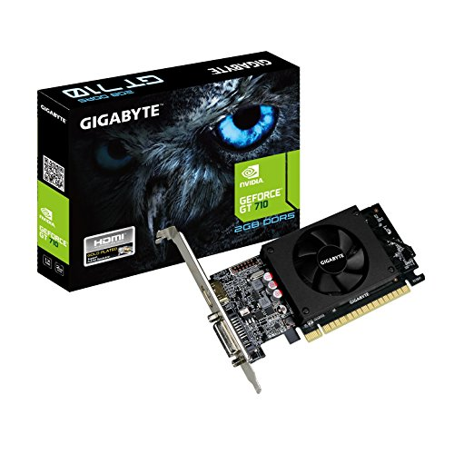 Gigabyte GeForce GT 710 2GB Graphic Cards and Support PCI Express 2.0 X8 Bus Interface. Graphic Cards GV-N710D5-2GL (Best Pci Express 1.0 Graphics Card)