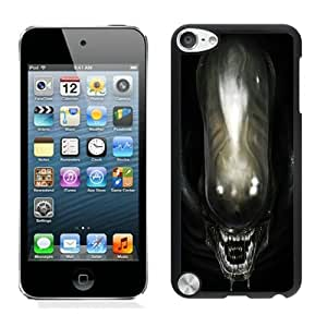Beautiful Designed Cover Case For iPod 5 With Alien Head Black Phone Case