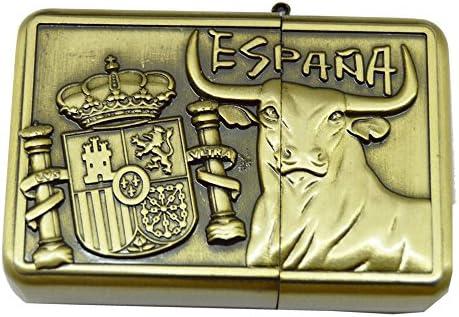 ALBERO MECHERO Metal TAURINO Color Bronce 5,5 X 3,8 CM Escudo España: Amazon.es: Hogar