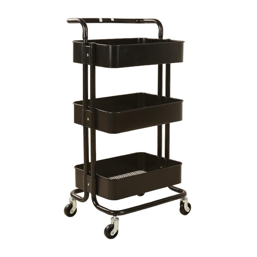 B 453587cm JU FU Cart Storage Rack Trolley - Beauty Equipment Cart Beauty Salon Trolley Barber Shop Rack Hairdressing Tool Cart @@ (color   B, Size   45  35  87cm)