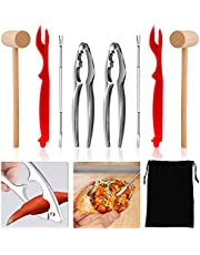9Pack Seafood Cracker Set, Crab Crackers and Tools, Lobster Crackers and Forks, Nut Crackers and Picks with Seafood Tool Storage Bag